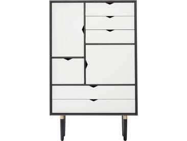Andersen Furniture - S5 Kommode, Eiche schwarz lackiert/ Fronten weiß