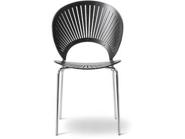 Fredericia Furniture Fredericia - Trinidad Stuhl, schwarz / chrom