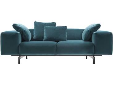 Kartell - Largo Velluto 2-Sitzer Sofa, blaugrün (53)