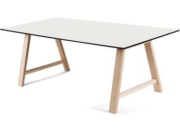 Andersen Furniture - T1 Ausziehtisch 160cm, Eiche geseift / Laminat weiß