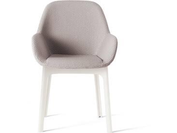 Kartell - Clap Stuhl, weiß-grau