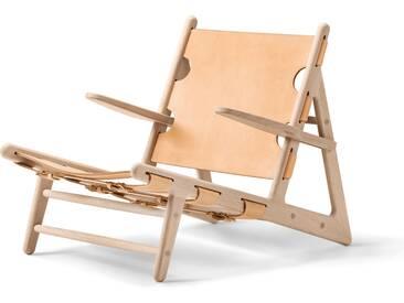 Fredericia Furniture Fredericia - Hunting Chair, Eiche geseift / Sattelleder natur