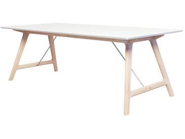 Andersen Furniture - T7 Ausziehtisch 220 cm, Eiche geseift / Laminat weiß