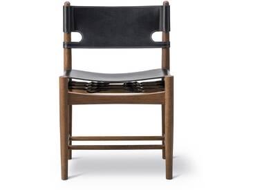 Fredericia Furniture Fredericia - Spanish Dining Chair, Eiche geräuchert / Leder schwarz