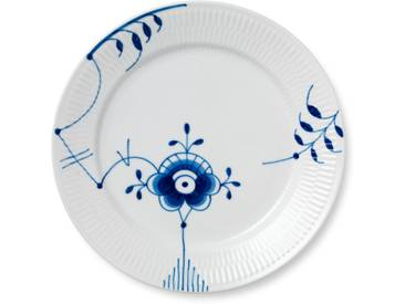 Royal Copenhagen - Mega Blau Gerippt Teller flach Ø 27 cm, Dekor Nr. 6
