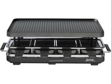 Spring Switzerland GmbH Spring - Raclette 8 mit Alu-Grillplatte, schwarz