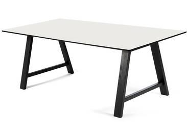 Andersen Furniture - T1 Ausziehtisch 160cm, Eiche schwarz / Laminat weiß