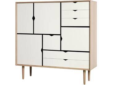 Andersen Furniture - S3 Kommode, Eiche geseift/ Fronten weiß