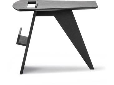 Fredericia Furniture Fredericia - Risom Magazin Beistelltisch, Eiche schwarz lackiert
