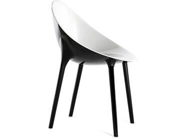 Kartell - Super Impossible Stuhl, weiß / schwarz