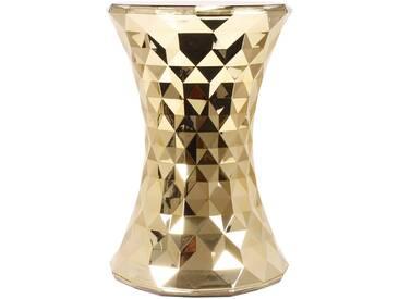 Kartell - Stone Beistelltisch und Hocker, gold