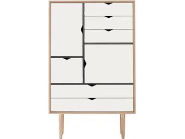 Andersen Furniture - S5 Kommode, Eiche geseift/ Fronten weiß