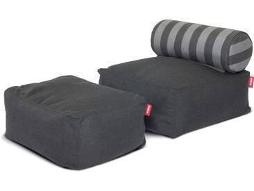 Fatboy - Tsjonge-Jongetje Kinder-Sitzsack, dunkelgrau / stripes