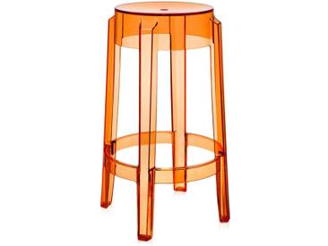 Kartell - Charles Ghost Barhocker H 65 cm, orange