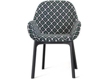 Kartell - Clap Stuhl 4182, schwarz / olive