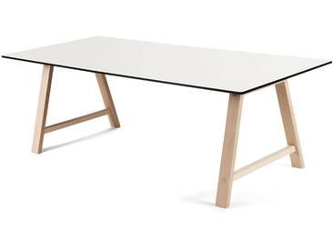 Andersen Furniture - T1 Ausziehtisch 180cm, Eiche geseift / Laminat weiß