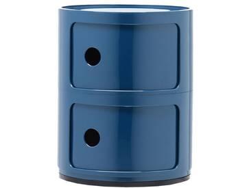 Kartell Componibili Beistelltisch Medium (2 Fächer) Blau