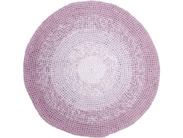 Sebra Gehäkelter Teppich 120 Rosa