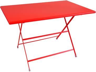 Emu Arc En Ciel Tisch Rechteckig Rot 110x70