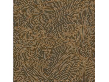 Ferm Living Coral Tapete Dark Green/Gold