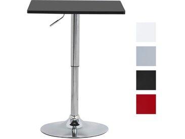 Sehr Praktischer Höhenverstellbarer Bartisch aus verchromter Stahl & Holz im Schwarz & Grau BT03sz