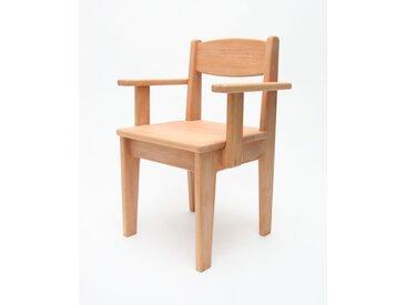 Kinderstuhl mit Armlehne Holz Buche geölt Sitzhöhe 26 cm Kleinkin