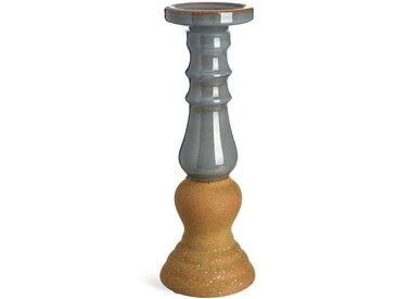 Kerzenhalter Sand, D:14cm x H:36cm, graublau