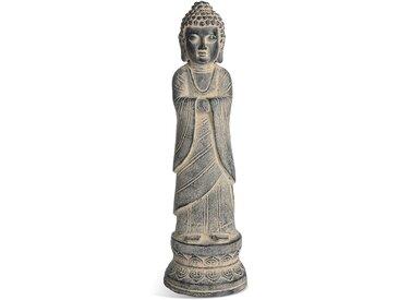 Dekofigur Buddha, D:18,5cm x H:70cm, grau