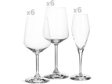 Gläser Set Style, 18-teilig, klar