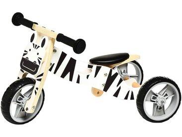 Lauf-/Dreirad Zebra, 65x36x36cm, weiß