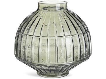 Vase Kacheln, Glas, D:27cm x H:26cm, grau