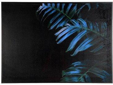 XL-Leinwandbild Farn, 66x91x4cm, schwarz