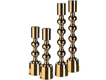 Kerzenhalter-Set Bubble, 4-teilig, gold