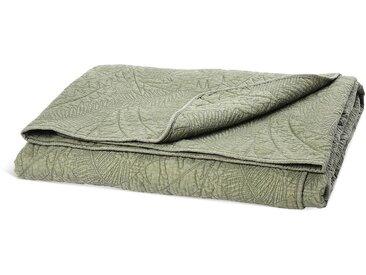 Bettüberwurf Leaves, B:200cm x L:220cm, dunkel-grün