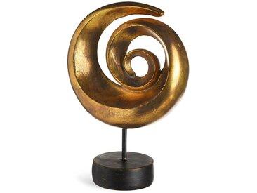 Dekoobjekt Kreisel, L:21cm x H:31,5cm, gold