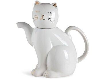 Tee-/Kaffeekanne Cat, 750ml, weiß