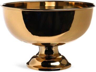 Champagnerkühler auf Fuß, D:36,5cm x H:24cm, gold