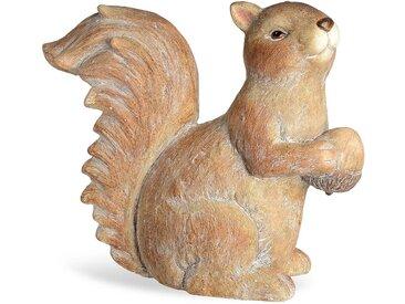 Dekofigur Eichhörnchen, L:37cm x H:34cm, hellbraun