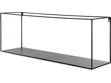 Wandregal aus Metall, 100x25x35cm, schwarz