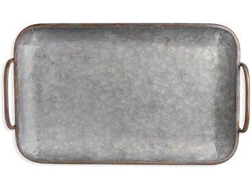 Dekotablett Ironlook, 29x45x5cm, grau