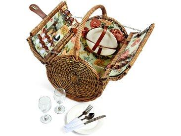 Picknickkorb für 2 Personen, 37x30x40cm, natur