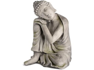 Dekofigur Buddha, D:47cm x H:59cm, grau