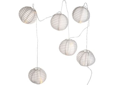 Lichterkette Solar Lampion, 12Led, L:2,5m, weiß