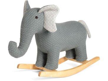 Schaukeltier Elefant, 94x34x77cm, grau