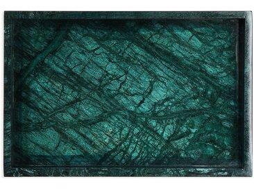 Tablett, Marmor, 30x20x3cm, grün