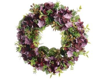 Blumenkranz, D:30cm, lila