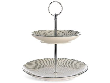 Etagere Dots and Stripes, D:16cm x D:20cm, grau