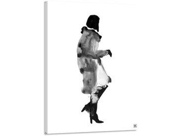Leinwandbild Ink Woman, B:30cm x L:45cm, schwarz