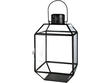 Laterne Minimalist, L:20cm x H:36cm, schwarz