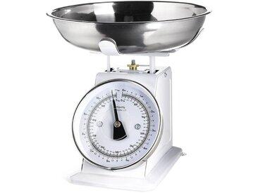 Küchenwaage bis max. 5kg, D:25cm x H:16cm, weiß